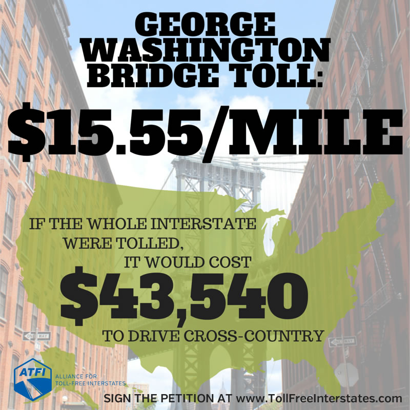 GWB Bridge Toll is $15.55/mile