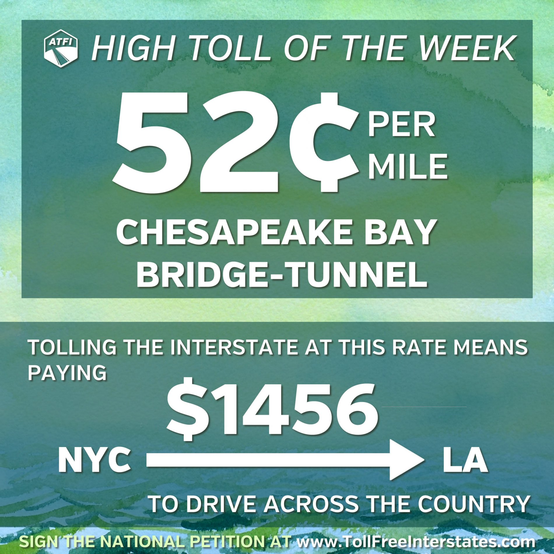 HRBT High Toll of the Week - $1456 from NYC to LA
